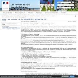 La sécurité du bronzage par UV - Les services de l'Etat dans le Calvados