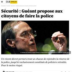 Sécurité : Guéant propose aux citoyens de faire la police - Société