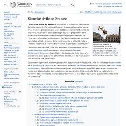 Sécurité civile en France