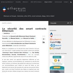 La sécurité des smart contracts Ethereum
