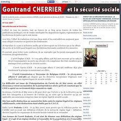 Sécurité Sociale et Doctrine. - Droit de la sécurité sociale: le blog de Gontrand CHERRIER, Avocat spécialiste au Barreau de ROUEN