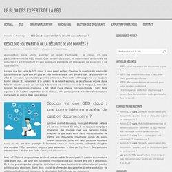 GED cloud : qu'en est-il de la sécurité de vos données d'entreprise ?