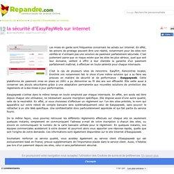 la sécurité d'EasyPayWeb sur internet