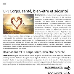 EPI CORPS SANTE BIEN-ETRE SECURITE - EDUCATION NATIONALE