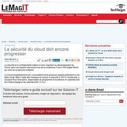 La sécurité du cloud doit encore progresser
