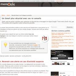 10 étapes pour améliorer la sécurité de votre compte Gmail