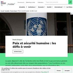 Paix et sécurité : les défis à venir - Vie-publique.fr