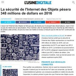 La sécurité de l'Internet des Objets pèsera 348 millions de dollars en 2016