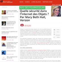 Quelle sécurité dans l'Internet des Objets ? Par Mary Beth Hall, Verizon