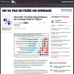 Les biais linguistiques du sondage Ifop/Le Figaro