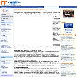La sécurité du cloud : un enjeu majeur pour les entreprises