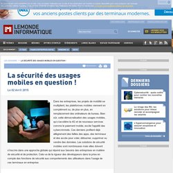 La sécurité des usages mobiles en question ! -
