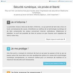 Sécurité numérique et vie privée