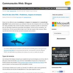 Sécurité des sites Web : Problèmes, risques et menaces