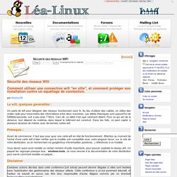 Sécurité des réseaux WIFI — Lea Linux