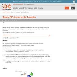 Sécurité PHP, sécuriser les flux de données