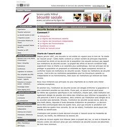 Securite Sociale en bref - Charte de l'assuré social - SPF Sécurité sociale