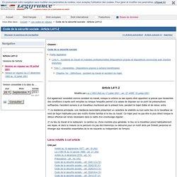 Code de la sécurité sociale - Article L411-2