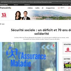Sécurité sociale : un déficit et 70 ans de solidarité