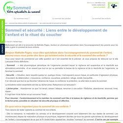lien entre sécurité et sommeil de l'enfant - Solutions-mysommeil.com