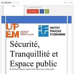 Sécurité, tranquillité et espace public