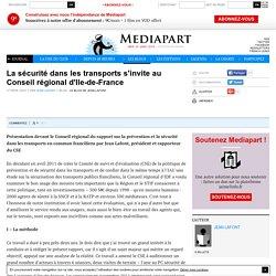 La sécurité dans les transports s'invite au Conseil régional d'Ile-de-France