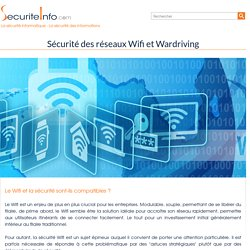 La sécurité du Wifi 802.11 WEP WPA Wardriving Wireless