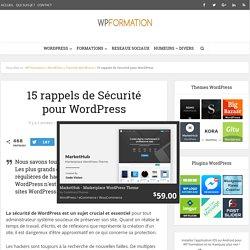 15 rappels de Sécurité pour WordPress