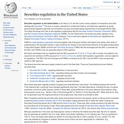 Securities regulation in the United States