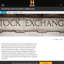 Securities and Exchange Commission - Facts & Summary