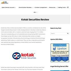 Kotak Securities Review - Open Demat Account