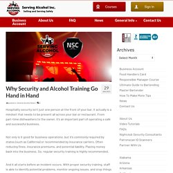Why Security and Alcohol Training Go Hand in Hand
