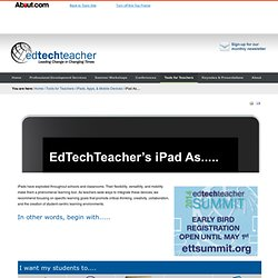 About.com: http://edtechteacher.org/index.php/teaching-technology/mobile-technology-apps/ipad-as