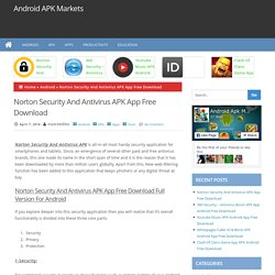 Norton Security And Antivirus APK App Free Download - Android APK Markets