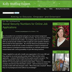 Social Security Numbers for Online Job Applications