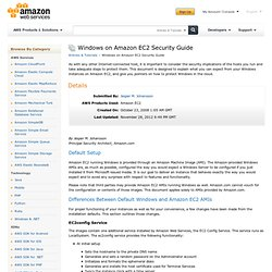 Windows on Amazon EC2 Security Guide : Articles & Tutorials