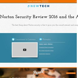 Norton Security Review 2016 and the Associated Support with it