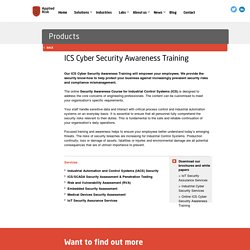 Our ICS Cyber Security Awareness Training