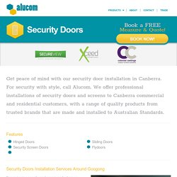 Security Doors near Belconnen & Braddon │ Alucom