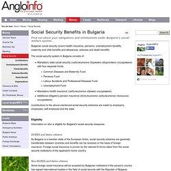 Social Security Benefits in Bulgaria