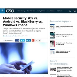 Mobile security: iOS vs. Android vs. BlackBerry vs. Windows Phone