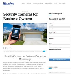 Security Cameras for Business Owners