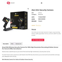 Wireless Camera for Home and Office Security - Swaart