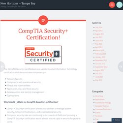 CompTIA Security+ Certification!
