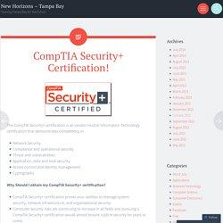CompTIA Security+ Certification!