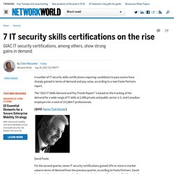 7 IT security skills certifications on the rise