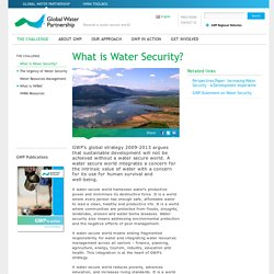 What is Water Security? - THE CHALLENGE
