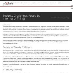 Security Challenges Posed by Internet of Things