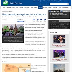 Mass Security Clampdown in Land Seizure