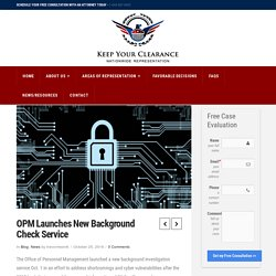 Security Clearance Lawyer Shares News of the New NBIB